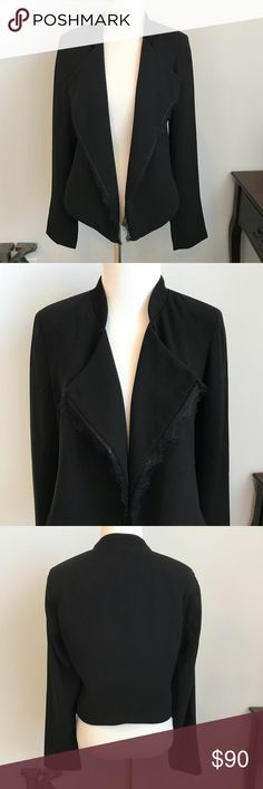 Elevenes black jacket medium Anthropologie NWT Elevenes black jacket with lace detail. Fully lined, size medium. Anthropologie NWT Anthropologie Jackets & Coats