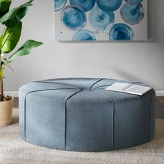 Oversized, the Madison Park Ferris Oval Ottoman offers a unique look that can be easily incorporated into many decor styles. This oval-shaped ottoman is