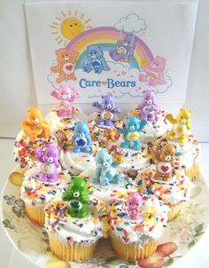 Best price Care Bears Cupcake Topper Birthday Party Decorations Set of 12 Figures with Share Bear, Wonderheart Bear, Grumpy Bear, Wish Bear and Many More! Baby First Birthday Cake, Care Bear Birthday, Care Bear Party, First Birthday Parties, First Birthdays, 5th Birthday, Cake Decorating Set, Birthday Cake Decorating, Birthday Party Decorations
