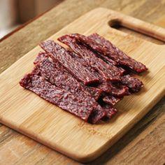 Homemade Beef Jerky. Spices, cure, and a ride in the dehydrator (or the oven if you don't have one). Delicious snack!