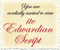 Edwardian Script Itc Font Free Download For Mac | Best Free Fonts Mac Download, Free Fonts Download, Cool Fonts, New Fonts, Best Free Fonts, Font Free, Slab Serif, Premium Fonts, Bottle Design