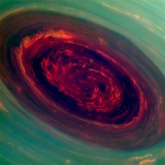 A hurricane on Saturn.