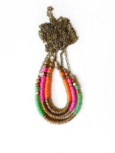 color brass necklace. Kin Dulaney via Etsy.