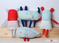 Czech artist Inna Slastenová sews beautiful toys of textile, gentle friends of the forest , created by hand embroidery . Softies, Friend Crafts, Cute Little Things, Plush Dolls, Dolls Dolls, Diy Toys, Fabric Dolls, Sewing For Kids, Handmade Toys