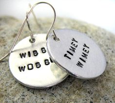 Time Lord Earrings. Wibbley Wobbly, Timey Wimey. :D