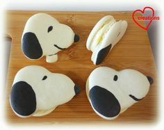 Loving Creations for You: Snoopy Macarons with Lemon and Chocolate Filling (tips for piping complex-shaped macarons)