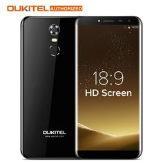 Oukitel C8 5.5 Inch 18:9 HD Screen Mobile Phone MTK6580A Quad Core 2GB RAM 16GB ROM 13MP Android 7.0 3000mAh Touch ID Cellphone  Price: 70.17 USD