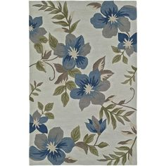 Addison Nassau Tropic Floral /Multi Plush Area Rug