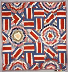 June 14: Stars and Stripes  Top By: Myers, Laura Maria Ott  Quilted By: Lee, Inez  Period: 1901-1929  Date: ca. 1910  Location Made: Texas (TX) United States  Project Name: Texas Sesquicentennial Quilt Association, Texas Quilt Search  Contributor: Briscoe Center for American History, University of Texas at Austin. http://www.quiltindex.org/fulldisplay.php?kid=4F-88-10A