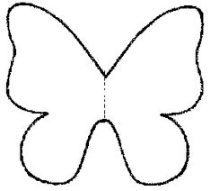 1000 images about papillons chenilles on pinterest papillons ballon d 39 or and bricolage - Dessin papillon simple ...