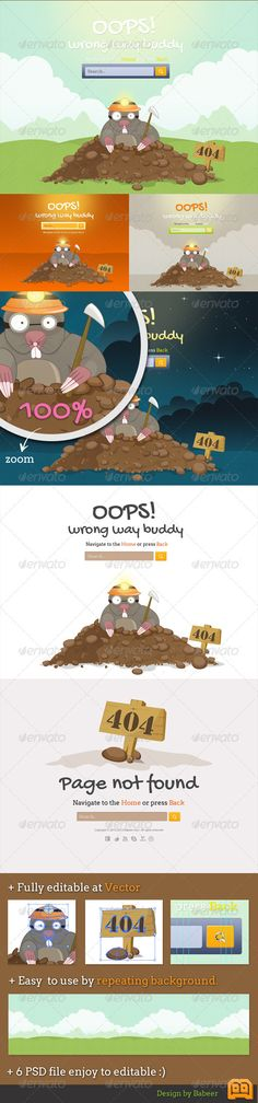 73 best 404 Page Templates images on Pinterest | Font logo, Fonts ...