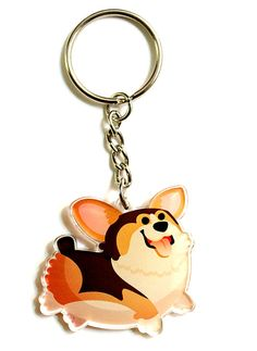 Cute tri color Corgi Keychain, Phone Charm, Dog lovers, Corgi Owners, tri color corgi, corgis, dog charm, kawaii, puppy