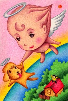 Fairy tale illustration - The angel's travel