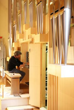The organ during final tuning and adjustment. © Royal Academy of Music, August 2013