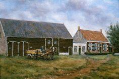 **Boerderij in Biggekerke** olieverfschilderij van Cor van der Padt ©