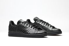 ADIDAS ORIGINALS STAN SMITH (BLACK REPTILE) - Sneaker Freaker