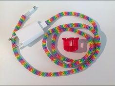 Rainbow Loom Nederlands, oplader/snoer versiering, cord cover, fingerloom - YouTube