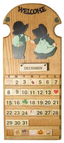 Wooden Calendars Handcrafted Perpetual Wooden Calendars Home