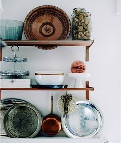 Love this idea: Give your GRUNDTAL kitchen shelves a copper twist with spray paint! #IKEAIDEAS from @ichliebedeko's beautifully organised home in Homburg, shot by @ikeafamilymag