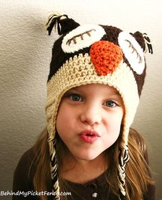 ★On Sale★ WHAT A HOOT Owl Hat with Earflaps and Tassels by www.BehindMyPicketFence.com