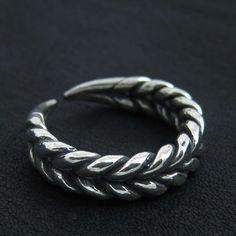 Silver Slavic ring. Reenactment. Medieval. Slavs. SCA.