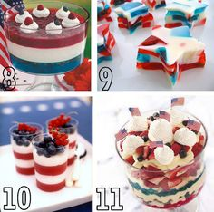 lots of fourth of july treats
