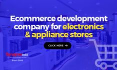 Start online electronics & appliance stores with reliable support of ECOMMERCE DEVELOPMENT COMPANY, SynapseIndia.   Get ready to increase sales, reach target customers, and expandthe business. Appliance Stores, Electronic Appliances, Target Customer, Increase Sales, Ecommerce, Electronics, Things To Sell, Digital, Business