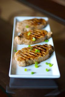 Carrie's Experimental Kitchen: Lemon-Ginger Grilled Pork Chops