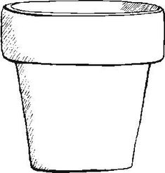Flower Pot Template Printable Flower Pot Coloring Page Girl
