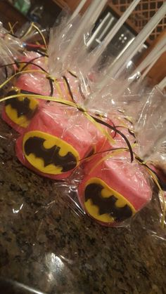 Batgirl Dipped Marshmallows