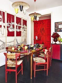 La cuisine de l'appartement parisien d'Inès Sastre décoré par Vincent Darré © Gonzalo Machado