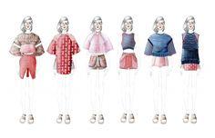 Fashion portfolio lineup drawings by Karen Yao Fashion Illustration Portfolio, Fashion Portfolio Layout, Fashion Design Sketches, Fashion Illustrations, Fashion Line, Fashion Art, Vogue Fashion, Fashion Models, Fashion Communication