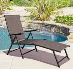 Giantex Adjustable Pool Chaise Lounge Chair Recliner Outdoor Patio Furniture Textilene