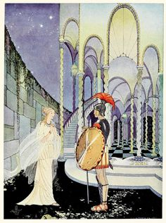 Illustrations from Tanglewood Tales by Virginia Frances Sterrett 1921 #illustration #tanglewoodtales