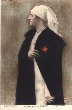 An image of a French WWI nurse, 1915 Pascal-Adolphe-Jean Dagnan-Bouveret