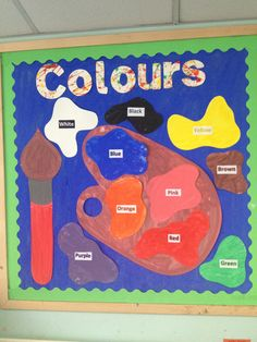 Colours display board