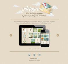 http://www.artogramapp.com/ - web design