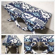 Quadrille Fabric X Benches - Choose Your Own Quadrille Fabric
