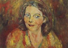 portrait in oil on canvas