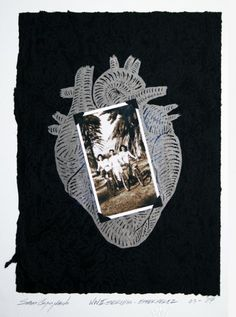 Sam Coronado,  Ester Perez,  Mixed Media, #LatinoArt #MexicanAmericanArt #serigraphy #printmaking