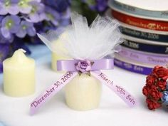 Personalized Votive Candle 24 Count What do you think of this as a favor?