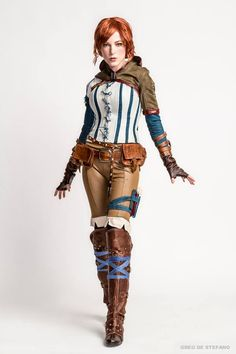 Jessica Dru Cosplay Triss Merigold The Witcher Wiedźmin