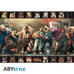 STREET FIGHTER Poster Street Fighter Groupe (98x68 cm)