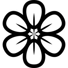 Flower with rounded petals free vector icons designed by Freepik Outline Drawings, Bird Drawings, Art Drawings Sketches, Colouring Pics, Coloring Pages, Mandala Stencils, Flower Stencils, Homemade Stamps, Cloud Drawing