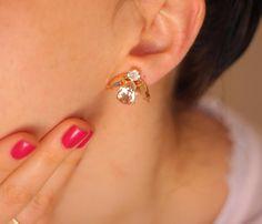 Blush Earrings, Rose Gold Blush Earrings, Swarovski Gold Gold Earrings, Bridesmaids Blush Earrings, Gift For Her, Rose Gold Blush Earrings Dazzling post