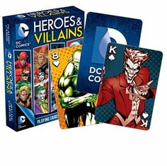 rogeriodemetrio.com: DC Comics Heroes and Villains Playing Cards