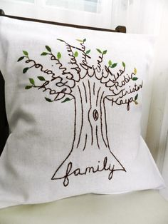family tree pillow by Kilgore Trout