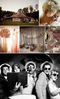 Loving vintage wedding inspirations! The table with the guest book, props and family photos is divine!:)