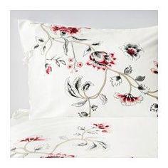 IKEA - RÖDBINKA, Copripiumino e federa, 150x200/50x80 cm, , La biancheria da letto in satin di lyocell è lucente, morbida come la seta e confortevole.Il lyocell assorbe ed elimina l'umidità, garantendoti un sonno asciutto e confortevole e permettendo al tuo corpo di mantenere una temperatura confortevole e uniforme.Il piumino rimane a posto grazie ai nastri decorativi e a una tasca nascosta.