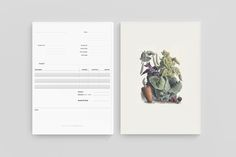 Simple and clean CI and stationary for Puree from studioahamed.  #design #ci #stationery #handdrawn